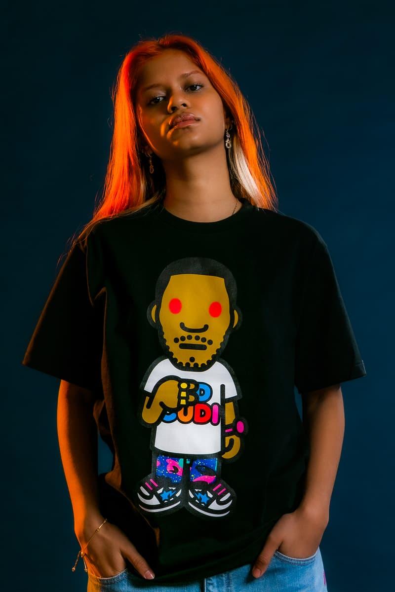 Kid Cudi x BAPE Collaboration Collection Varsity Jacket Moon Man