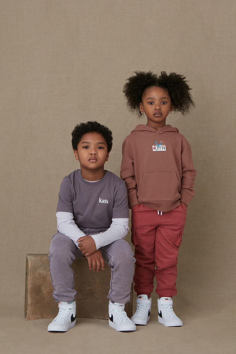 kith kids spring 2021 collection lookbook boy girl boy girl tshirt pants hoodie