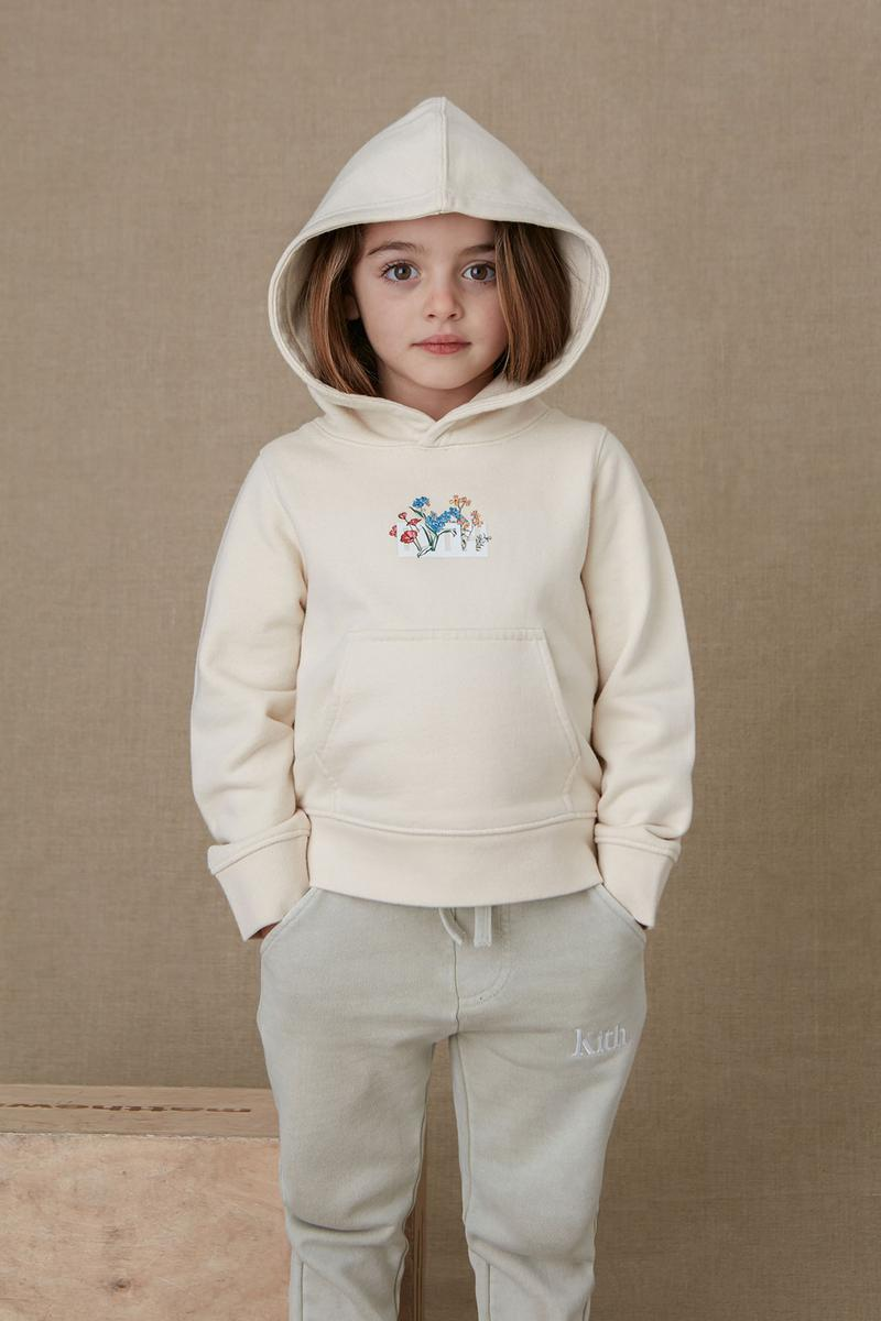 kith kids spring 2021 collection lookbook girl logo hoodie