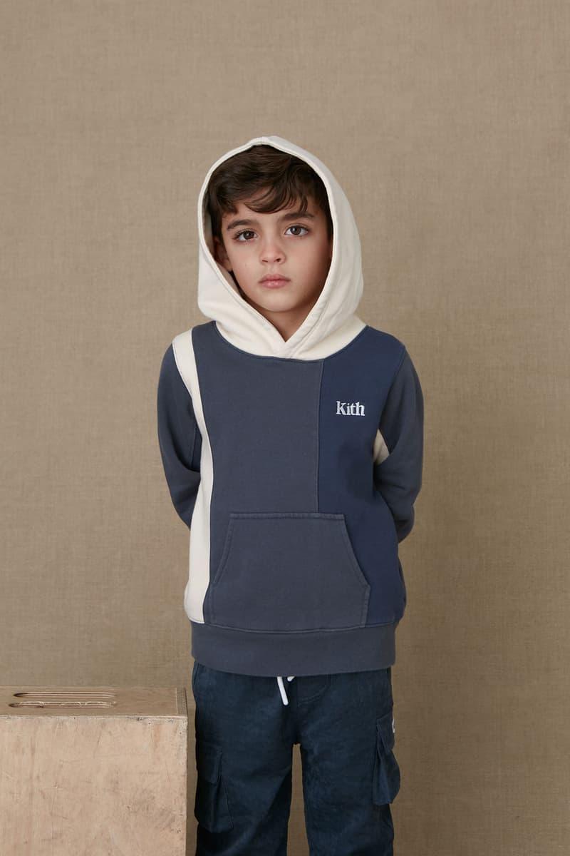 kith kids spring 2021 collection lookbook boy hoodie logo