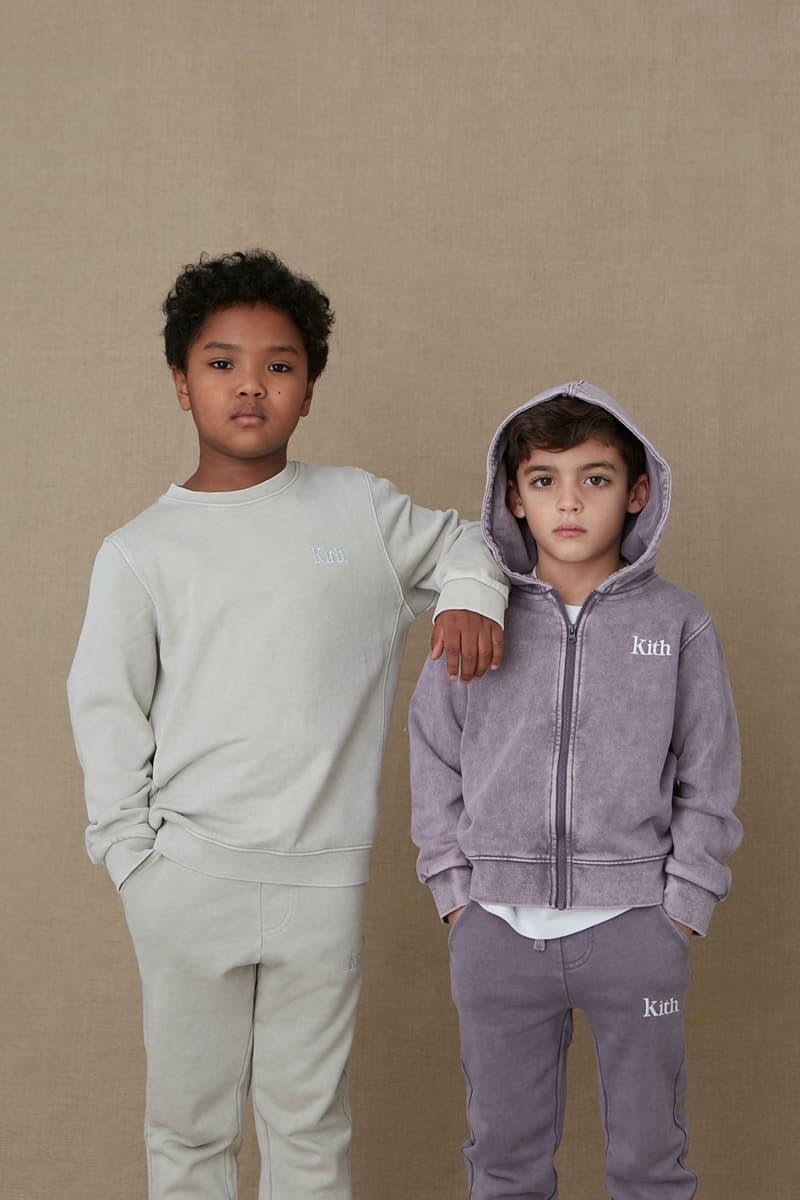 kith kids spring 2021 collection lookbook boy sweatshirt hoodie zip up