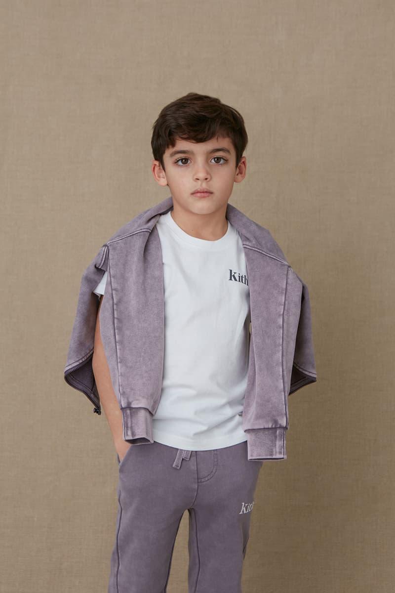 kith kids spring 2021 collection lookbook boy logo tshirt sweatshirt
