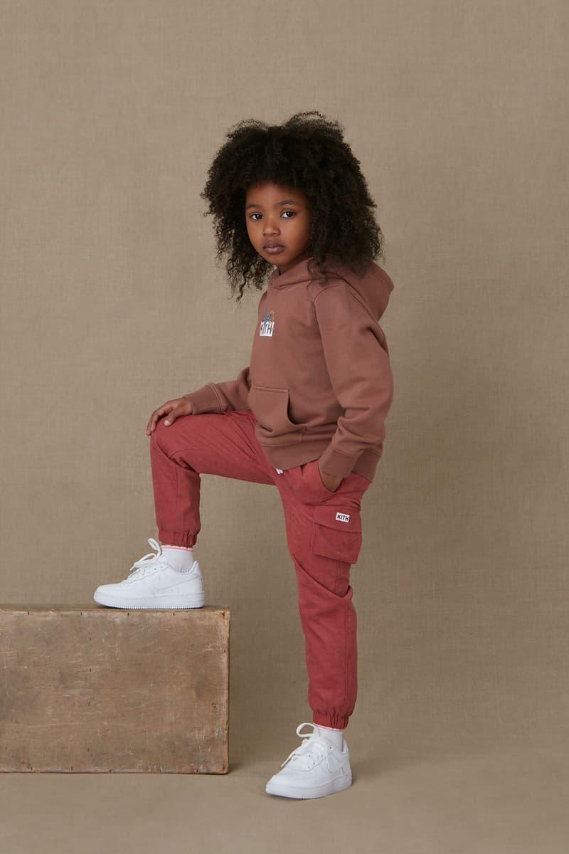 kith kids spring 2021 collection lookbook boy girl logo hoodie pants