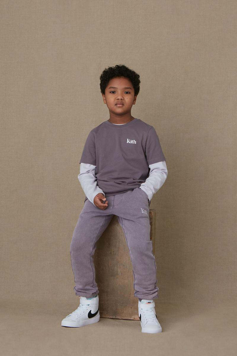 kith kids spring 2021 collection lookbook boy girl logo tshirt pants nike blazer