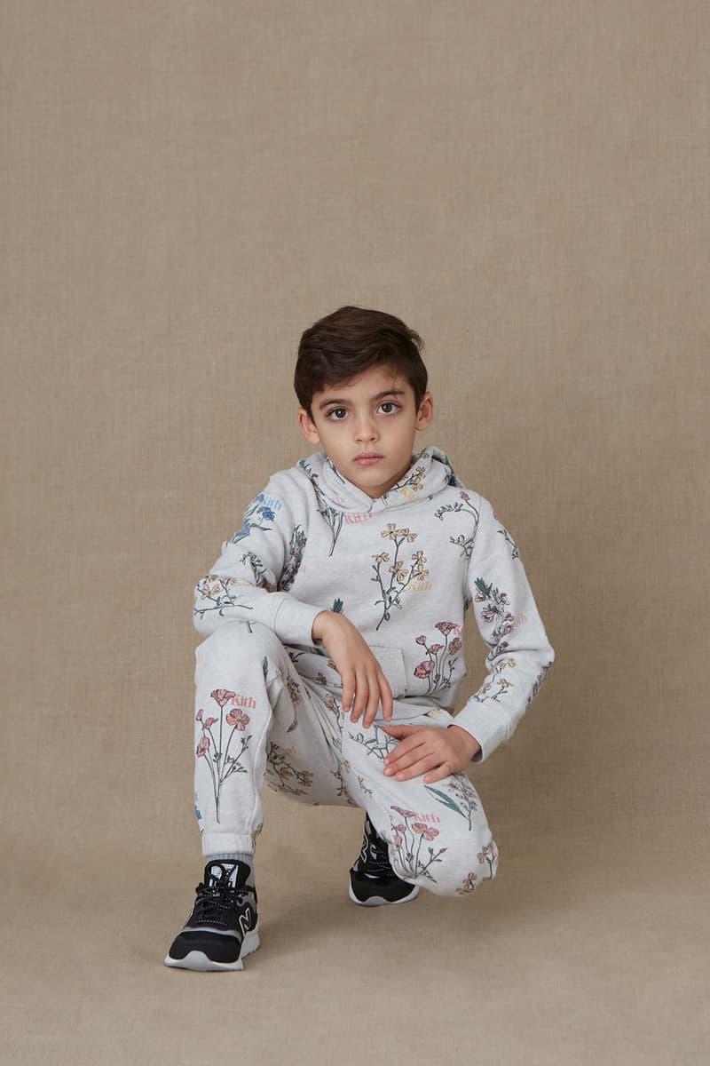 kith kids spring 2021 collection lookbook boy hoodie sweatpants pattern set