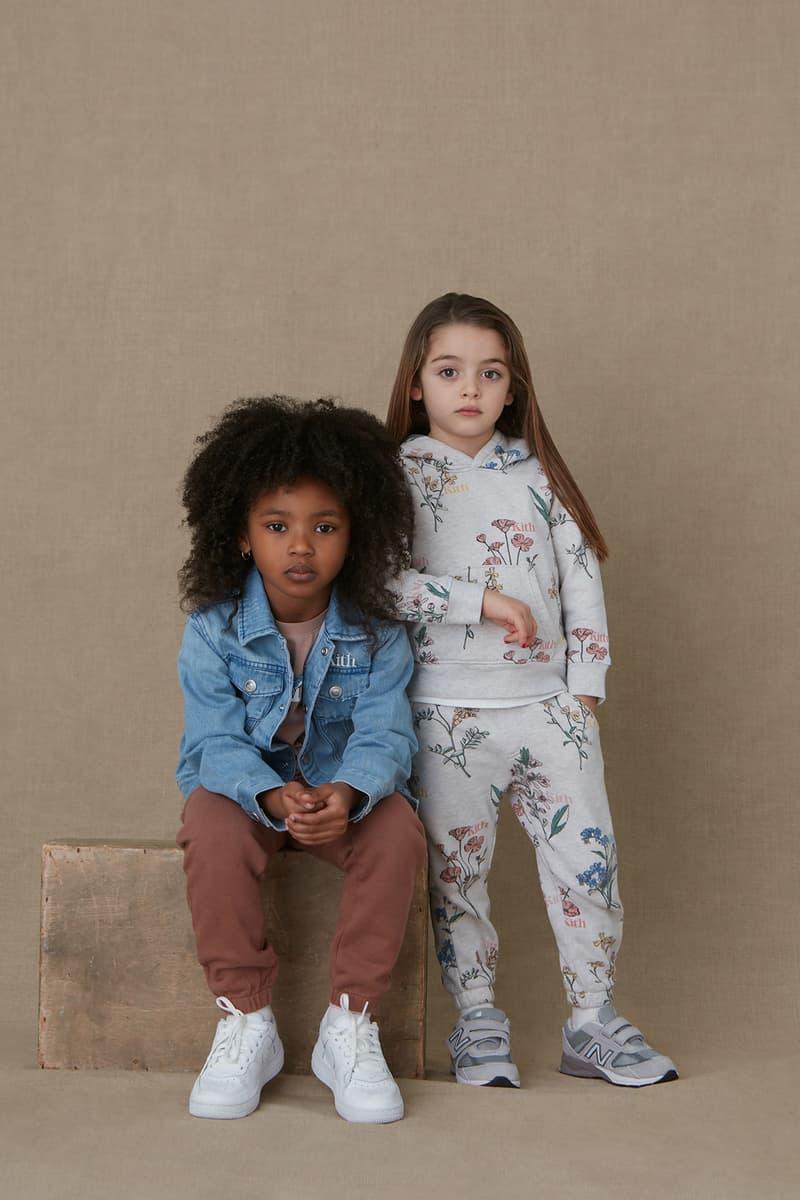 kith kids spring 2021 collection lookbook girl denim jacket hoodie sweatpants