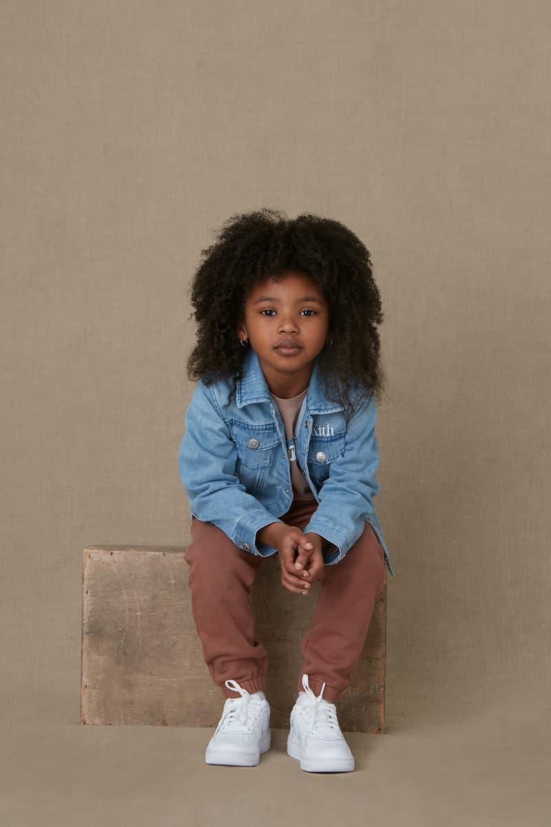 kith kids spring 2021 collection lookbook girl denim jacket
