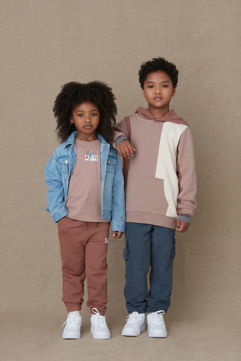kith kids spring 2021 collection lookbook boy girl denim jacket jeans trousers