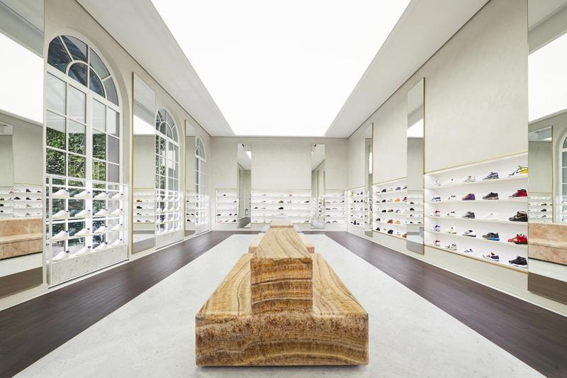 kith paris france retail store flagship interior sneakers