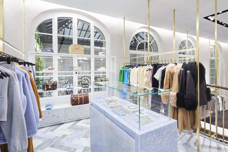 kith paris france retail store flagship interior clothes