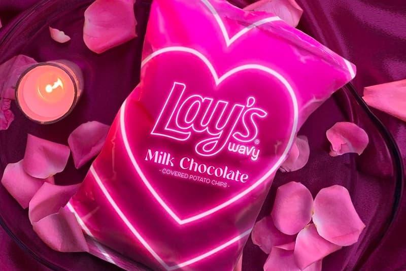 Lay's Wavy Milk Chocolate-Covered Potato Chips Valentine's Day