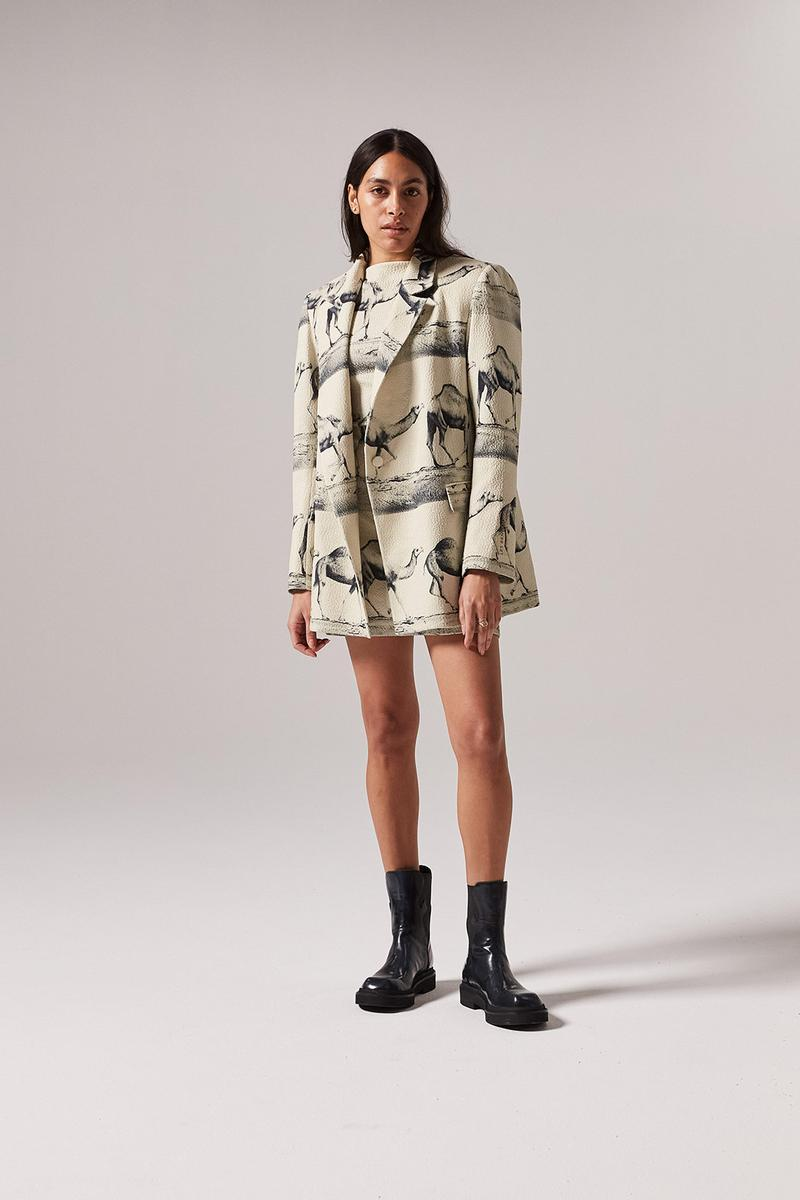 les benjamins silk road services spring summer collection campaign jacket outerwear skirt shoes