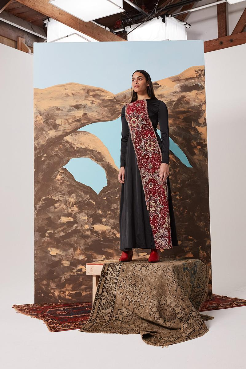 les benjamins silk road services spring summer collection campaign dress