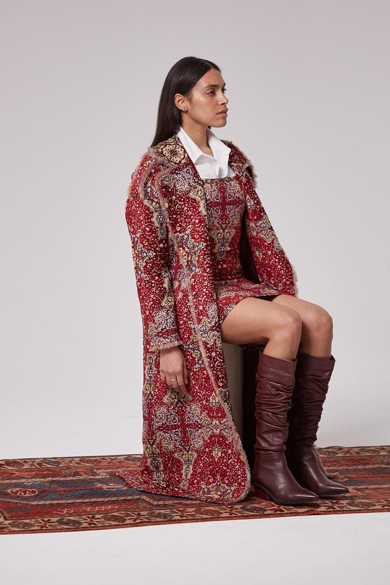 les benjamins silk road services spring summer collection campaign outerwear jacket skirt boots