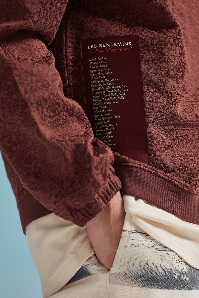les benjamins silk road services spring summer collection campaign jacket pants details pocket