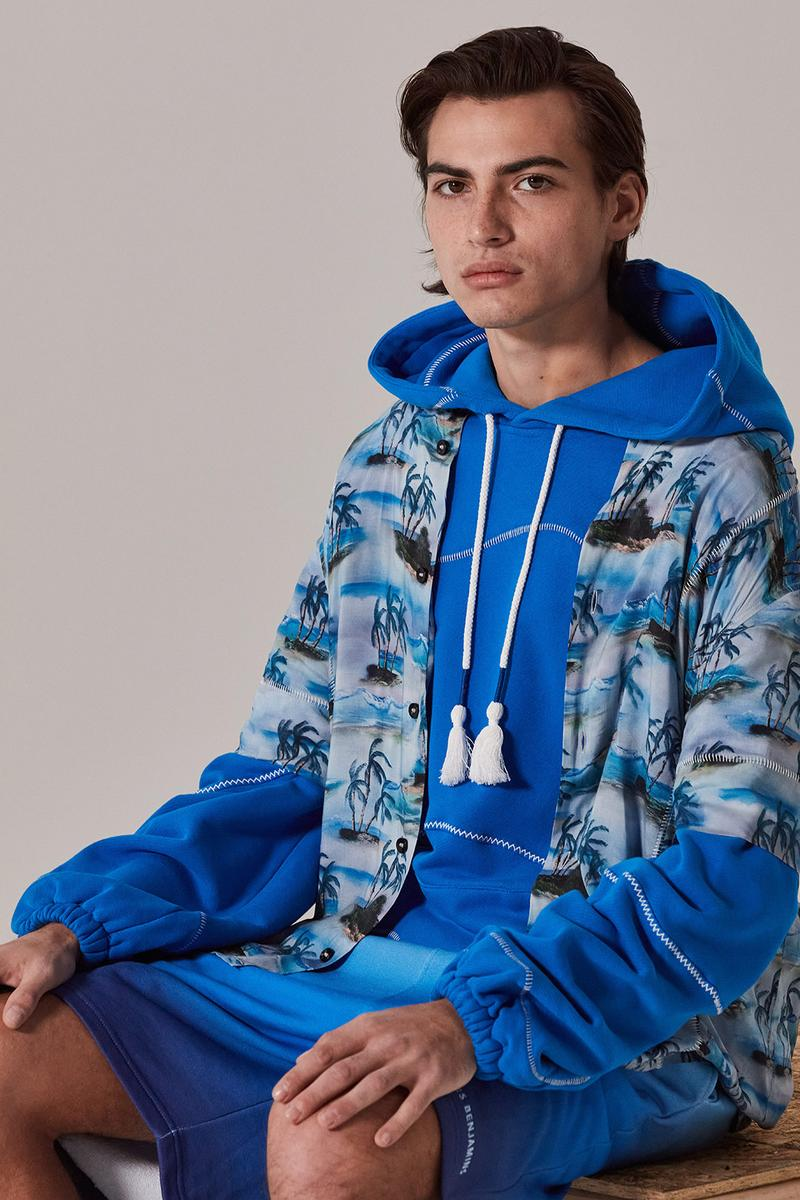 les benjamins silk road services spring summer collection campaign outerwear hoodie jacket shorts