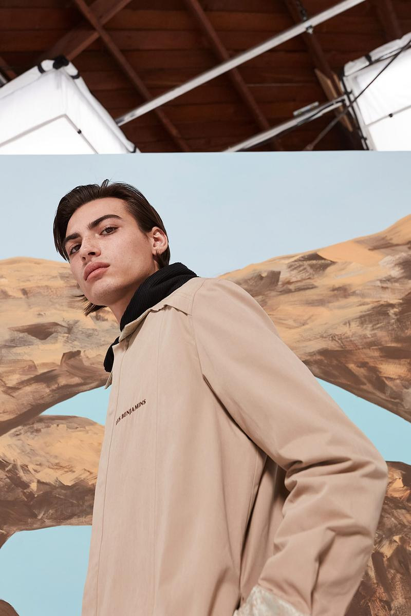 les benjamins silk road services spring summer collection campaign outerwear jacket