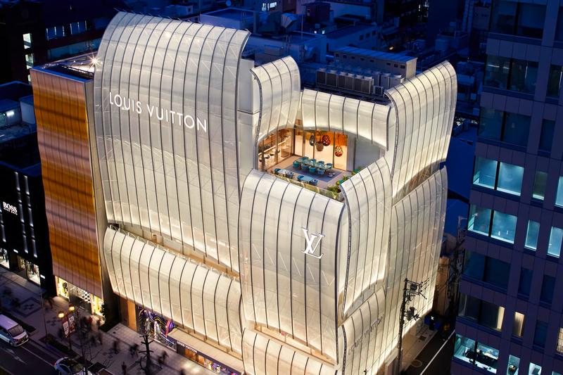 louis vuitton lv first restaurant le cafe v sugalabo osaka japan exterior building flagship