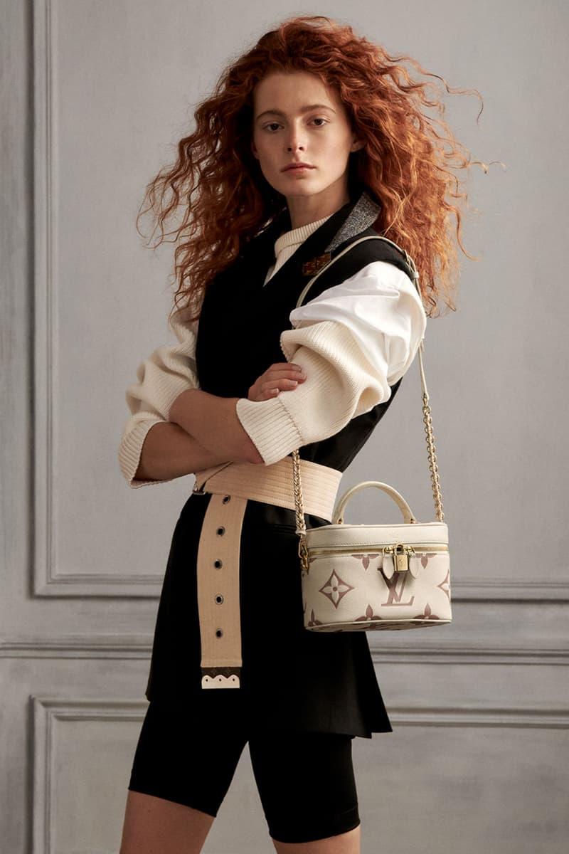 louis vuitton lv monogram vanity handbags beige ivory cream bike shorts
