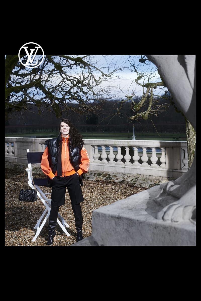 louis vuitton pre fall womens collection nicolas ghesquiere vest outerwear jacket orange black shorts boots designer handbag