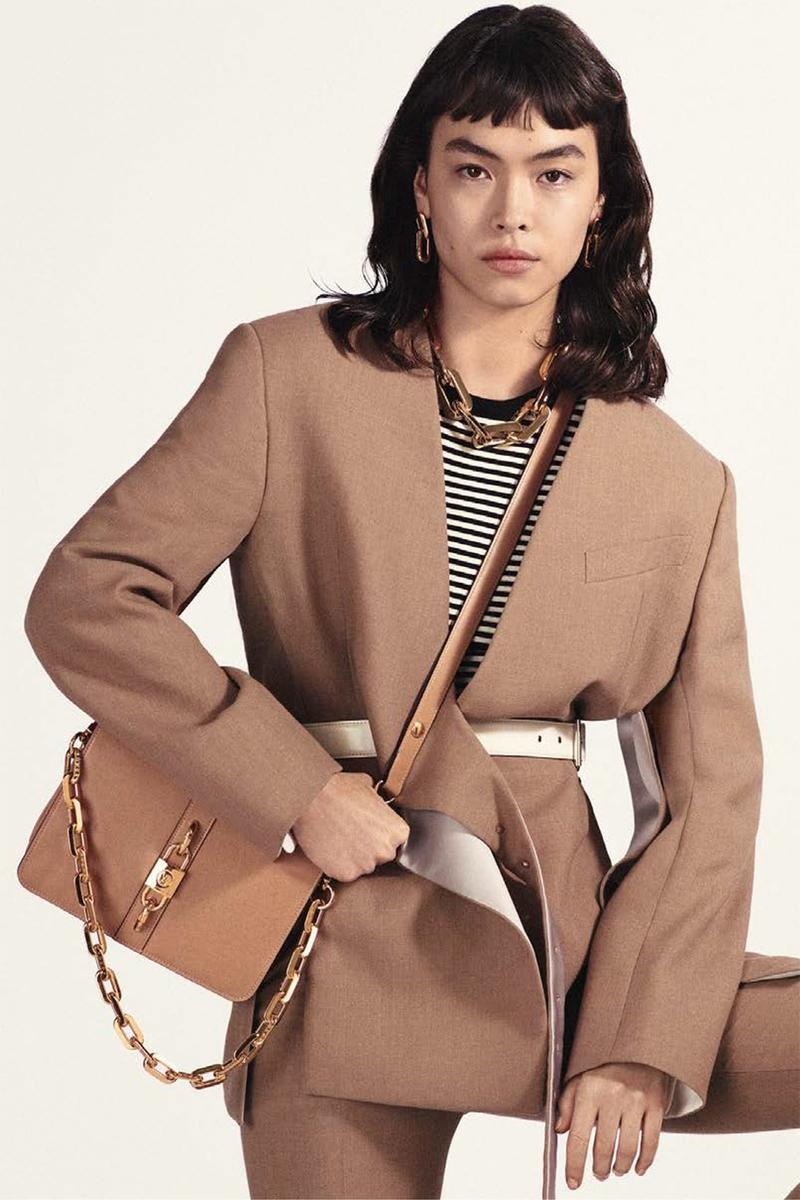 louis vuitton rendez vous designer handbag spring summer collection beige gold chain