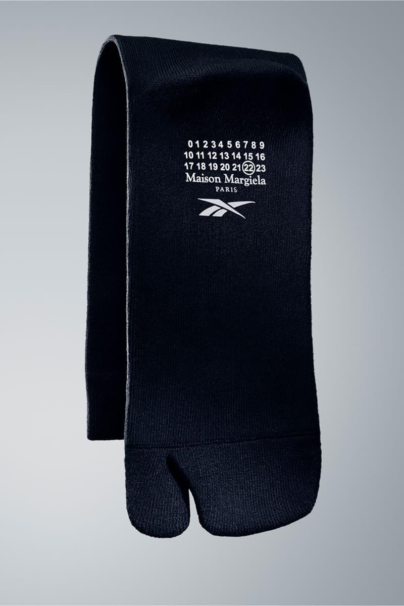 maison margiela reebok tabi split toe socks