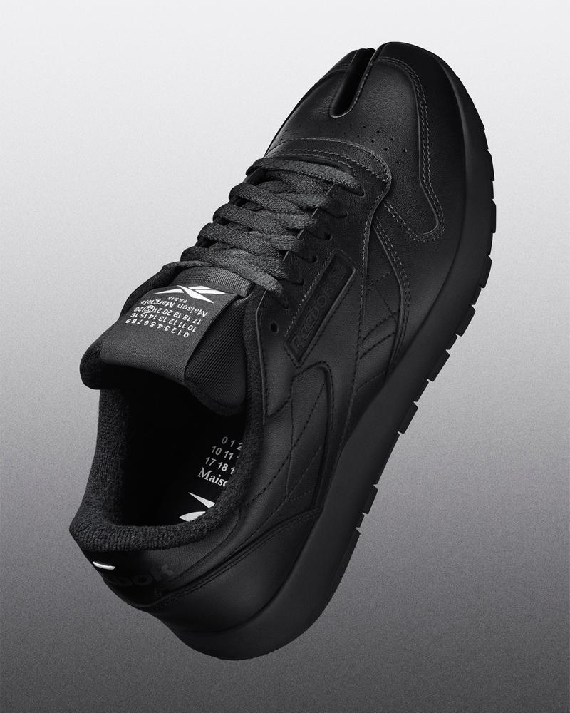 maison margiela reebok classic leather tabi toe sneakers collaboration black