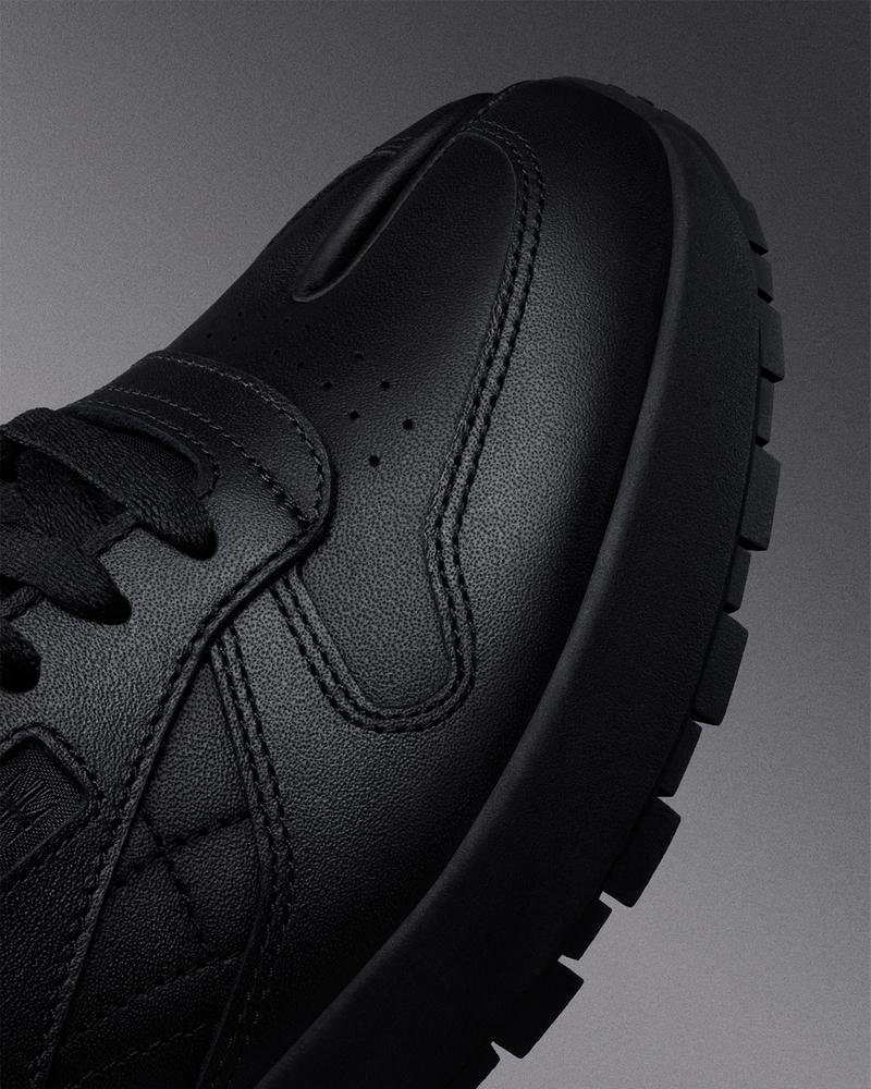 maison margiela reebok classic leather tabi toe sneakers collaboration black details