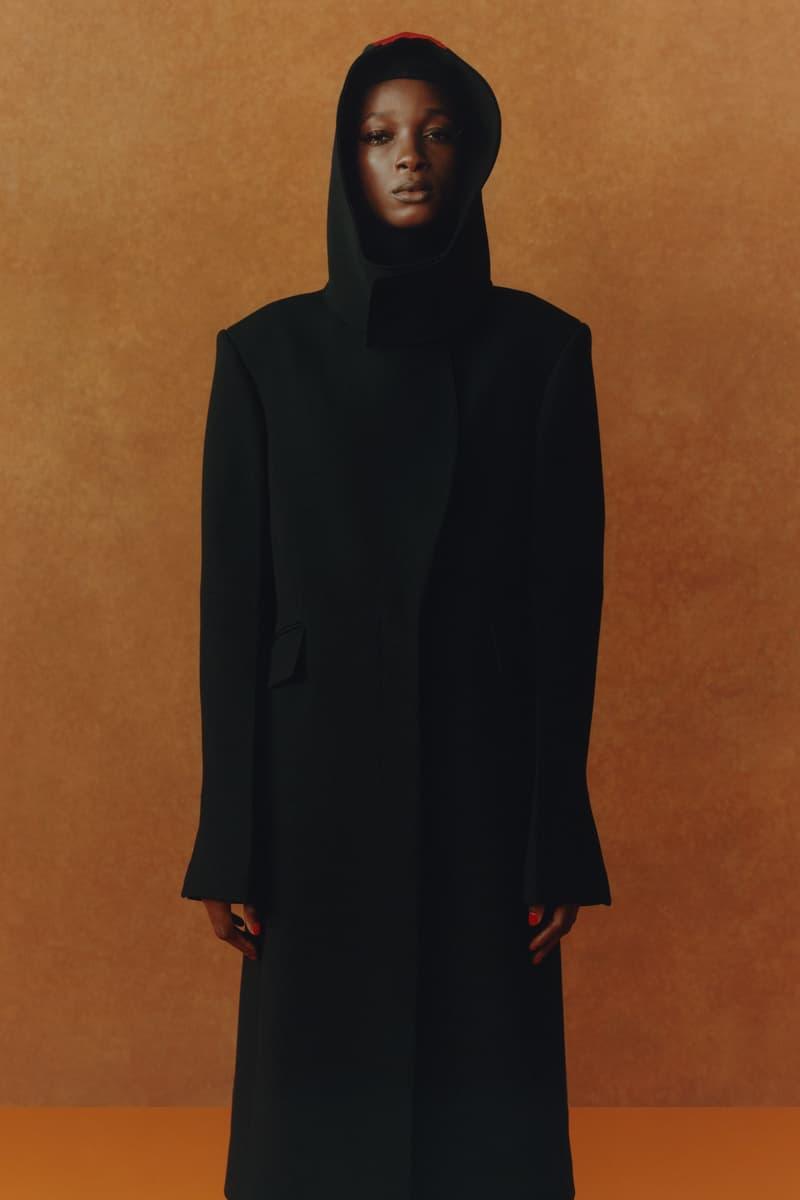 maximilian fall winter collection london fashion week lfw black culture lookbook outerwear jacket hood