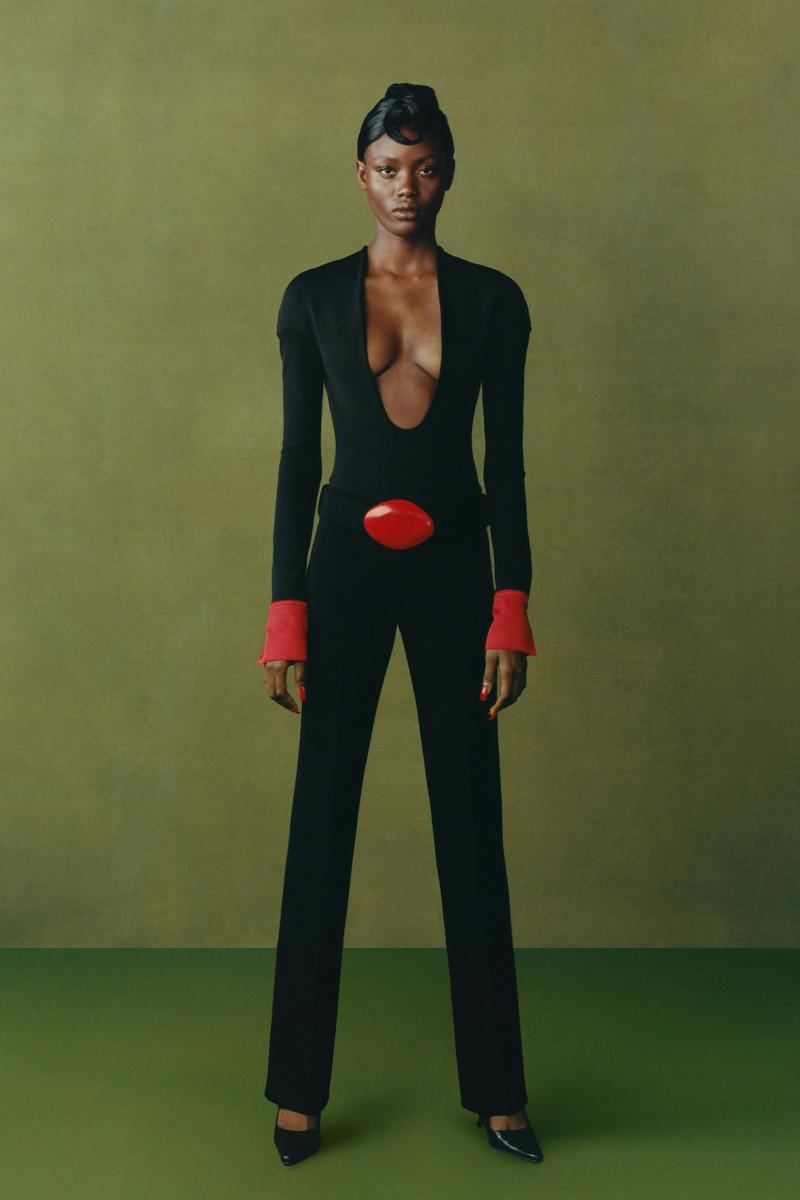 maximilian fall winter collection london fashion week lfw black culture lookbook bodysuit pants heels