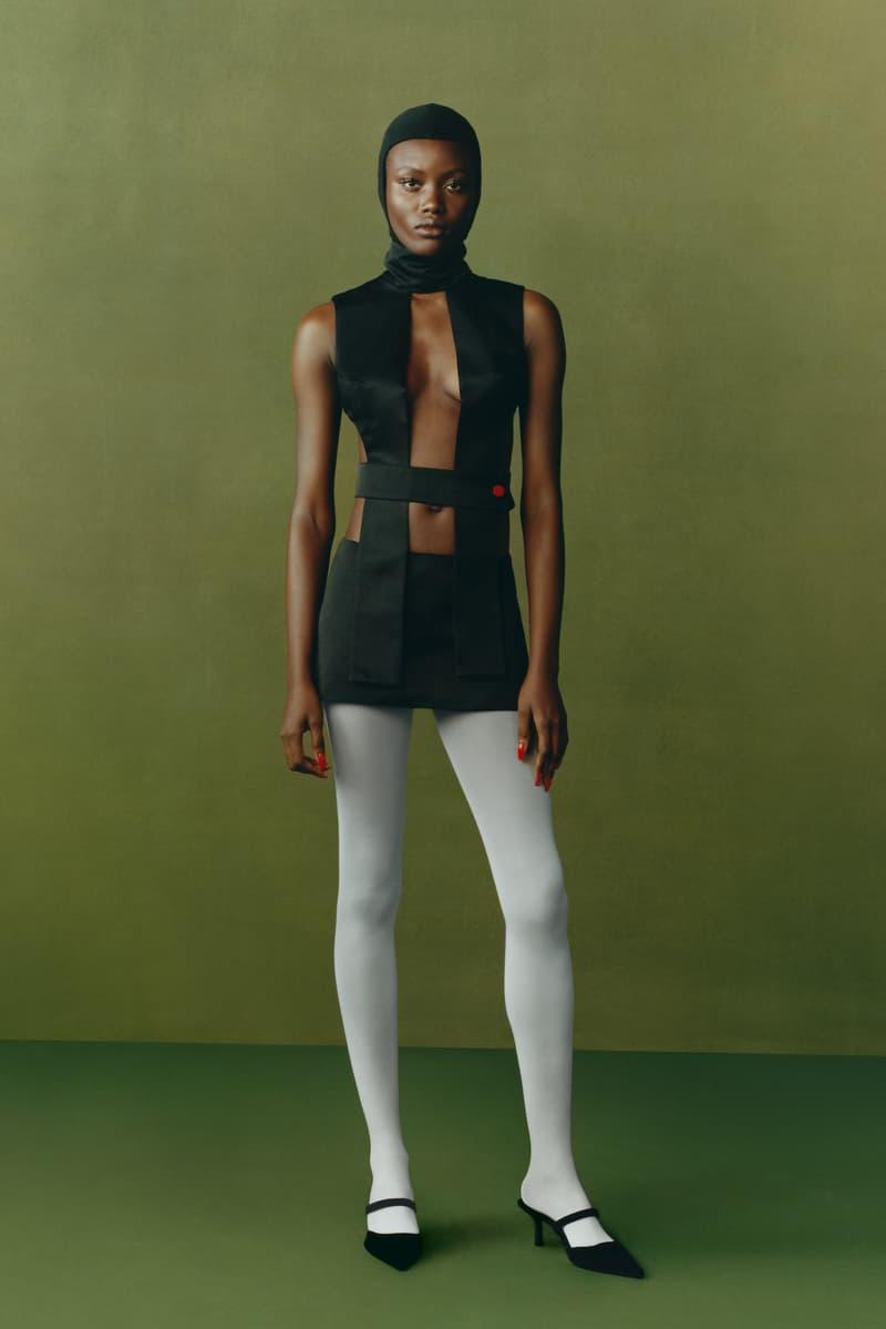 maximilian fall winter collection london fashion week lfw black culture lookbook skirt stockings heels headwear