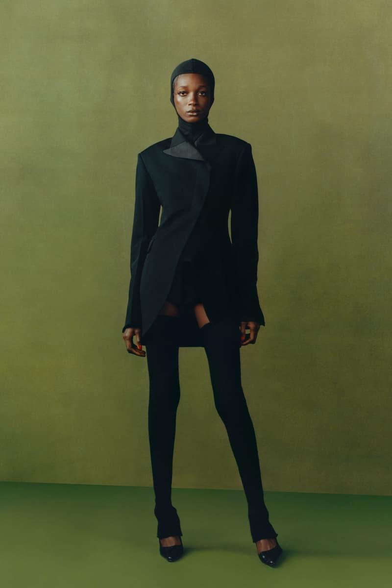 maximilian fall winter collection london fashion week lfw black culture lookbook outerwear jacket heels headwear
