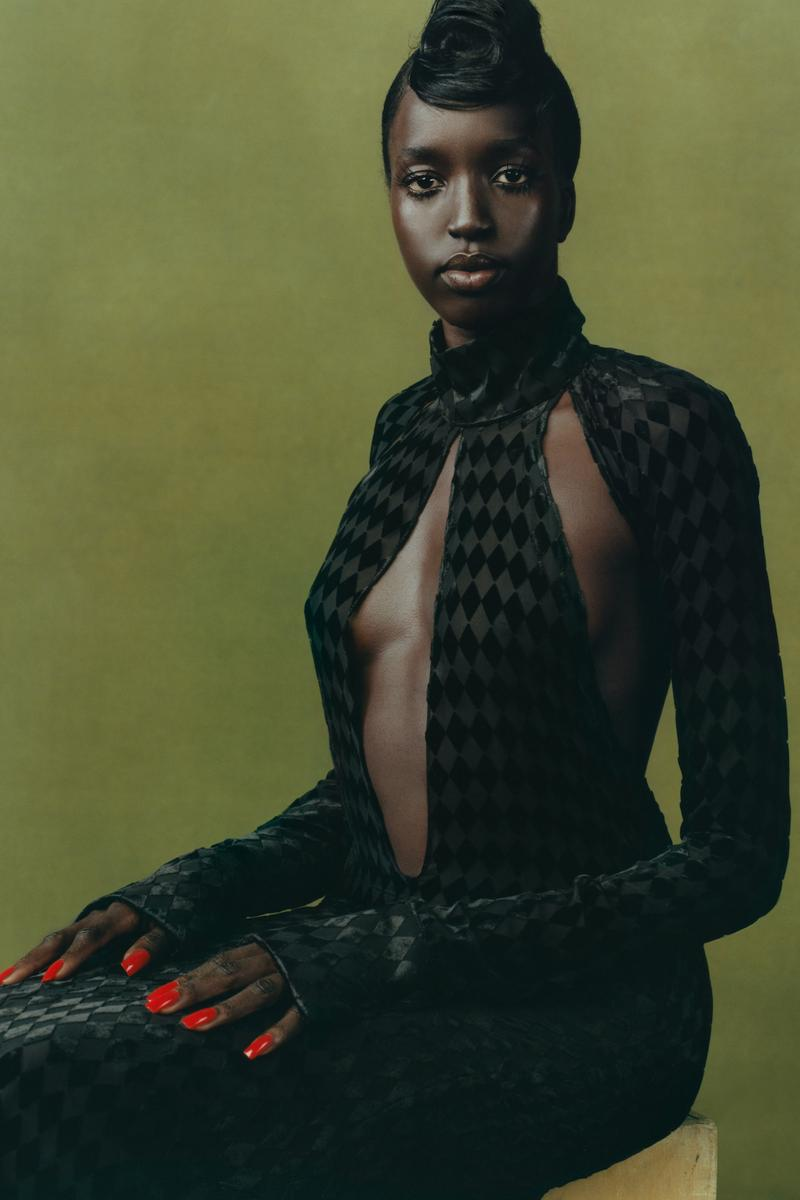 maximilian fall winter collection london fashion week lfw black culture lookbook dress