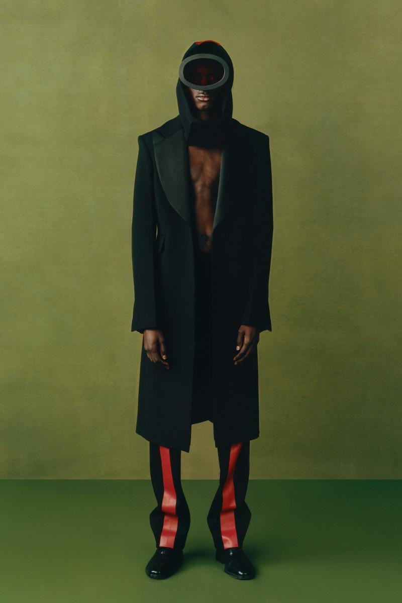 maximilian fall winter collection london fashion week lfw black culture lookbook outerwear jacket pants headwear
