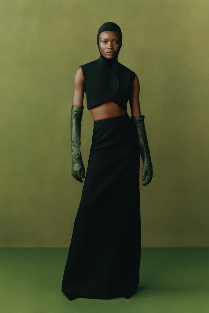maximilian fall winter collection london fashion week lfw black culture lookbook skirt crop top headwear gloves
