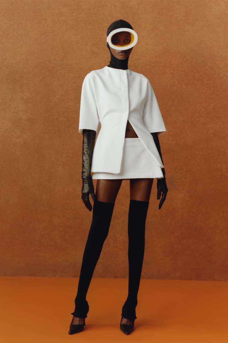 maximilian fall winter collection london fashion week lfw black culture lookbook headwear goggles top gloves skirt heels