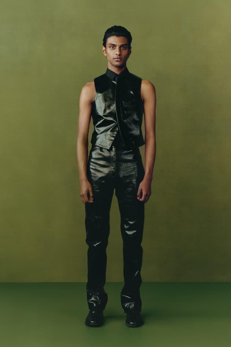 maximilian fall winter collection london fashion week lfw black culture lookbook leather vest pants shoes