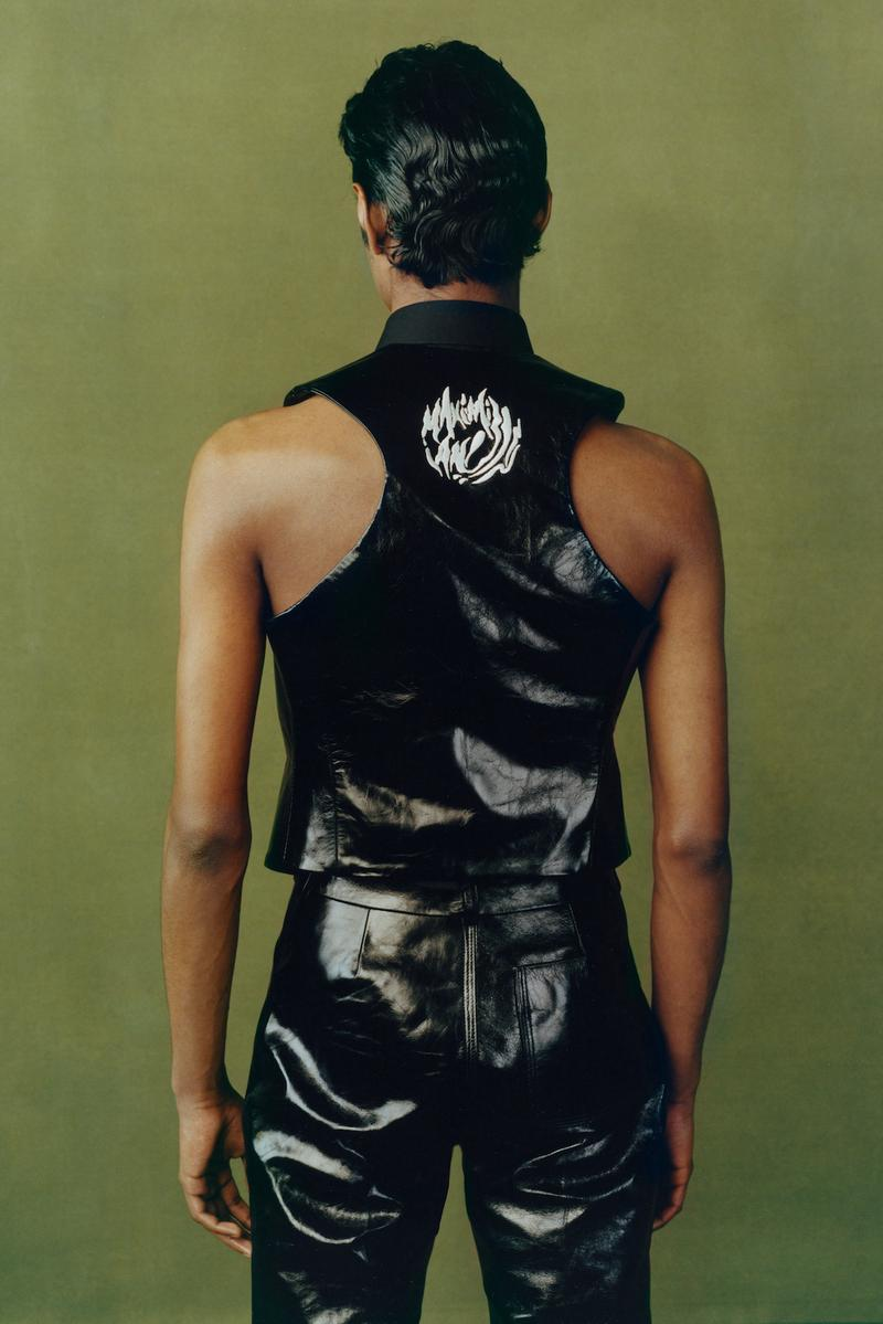 maximilian fall winter collection london fashion week lfw black culture lookbook leather vest pants