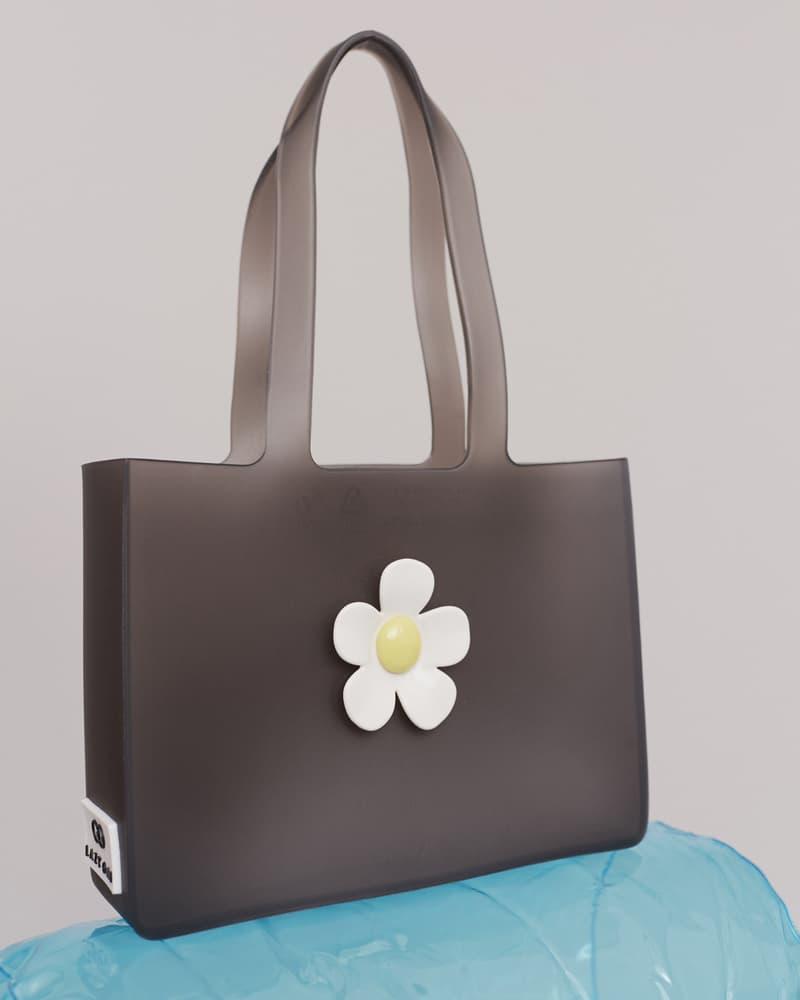 melissa lazy oaf jelly platform sandals collaboration daisy handbag