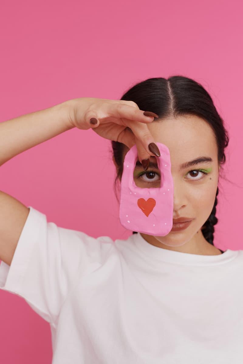 melissa lazy oaf jelly platform sandals collaboration mini bag heart
