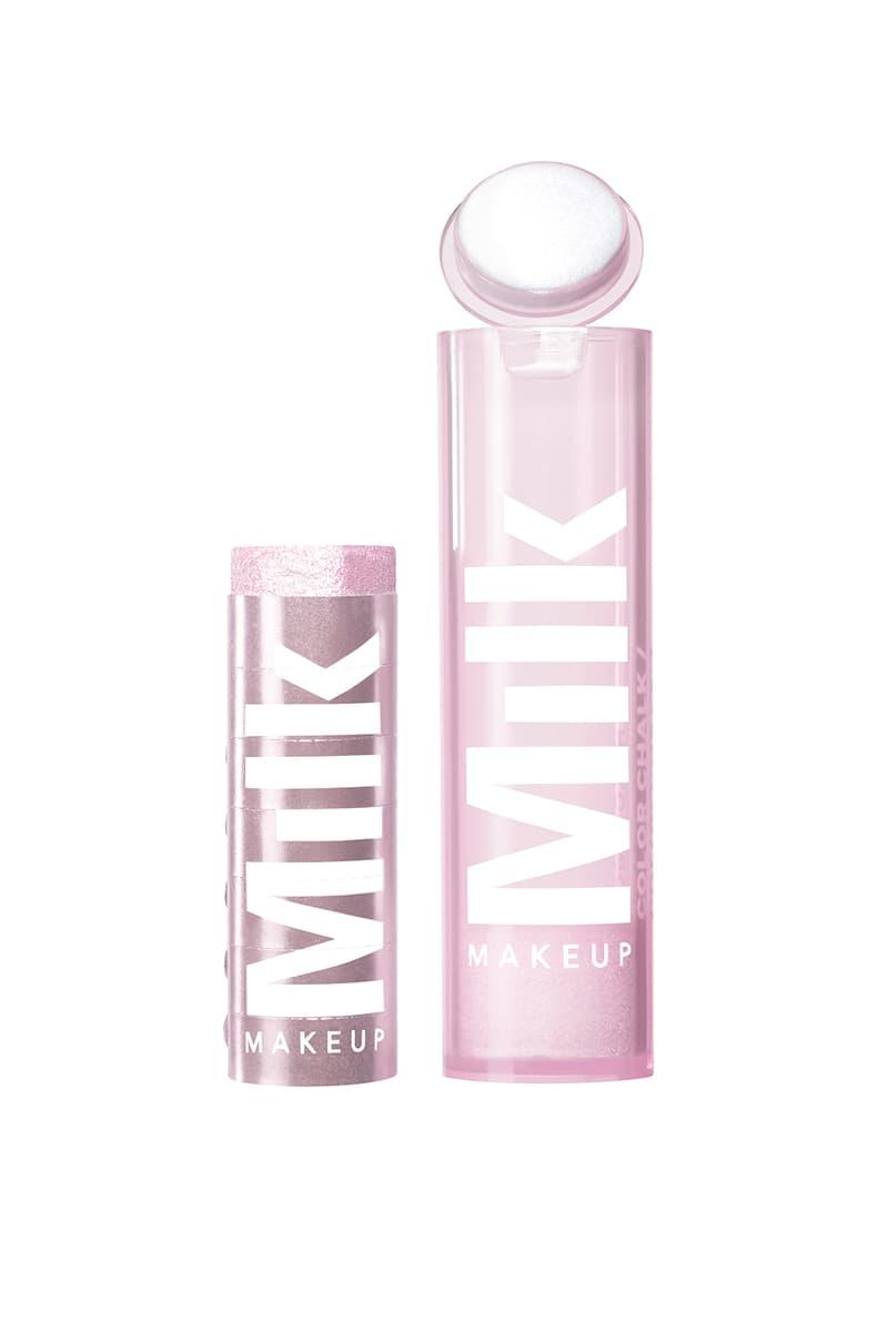 milk makeup chalk color eyeshadow dodge ball dusty pink