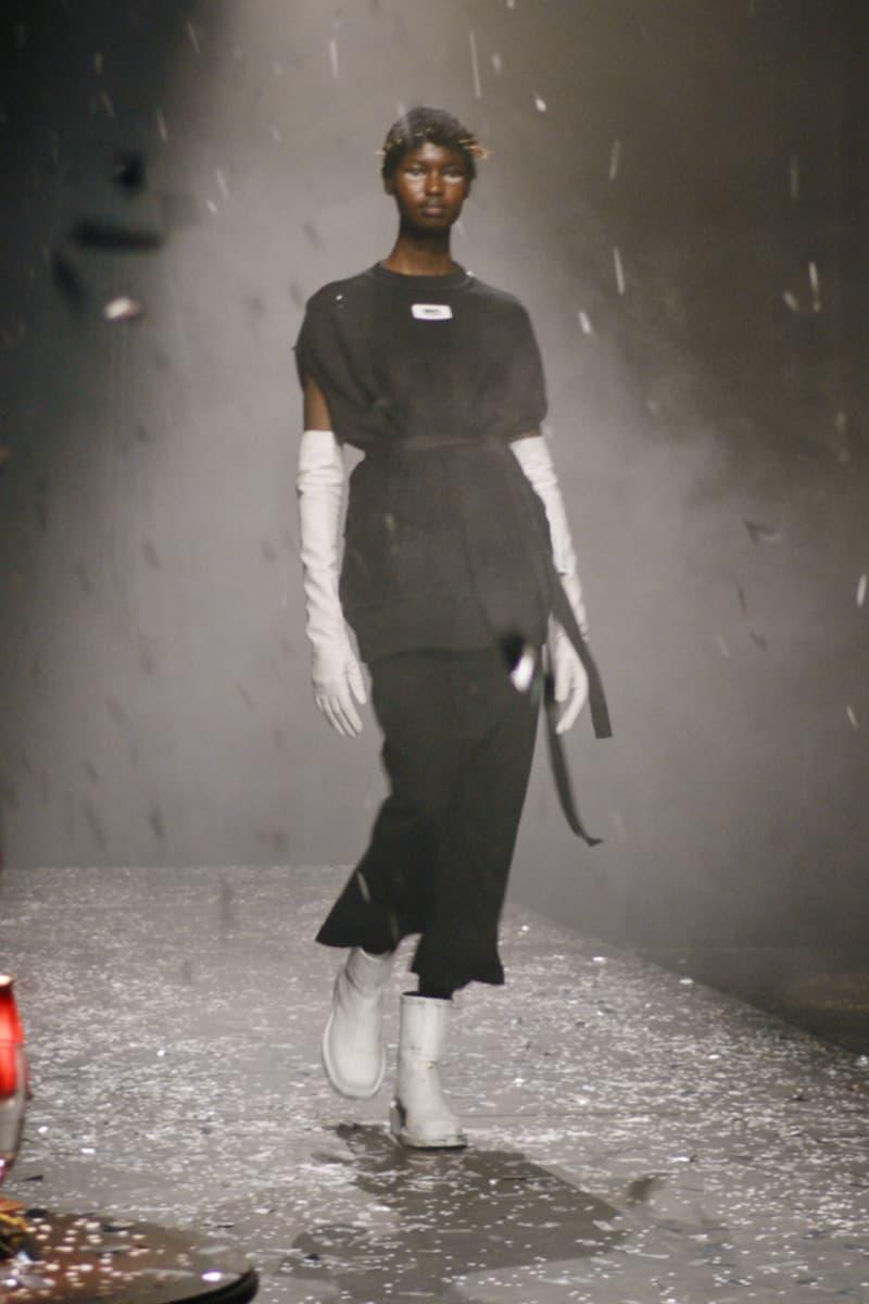 mm6 maison margiela fall winter collection paris fashion week pfw top pants boots gloves
