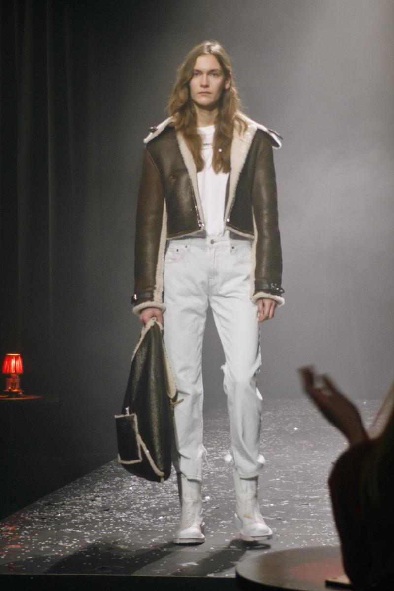 mm6 maison margiela fall winter collection paris fashion week pfw outerwear jacket pants eastpak backpack