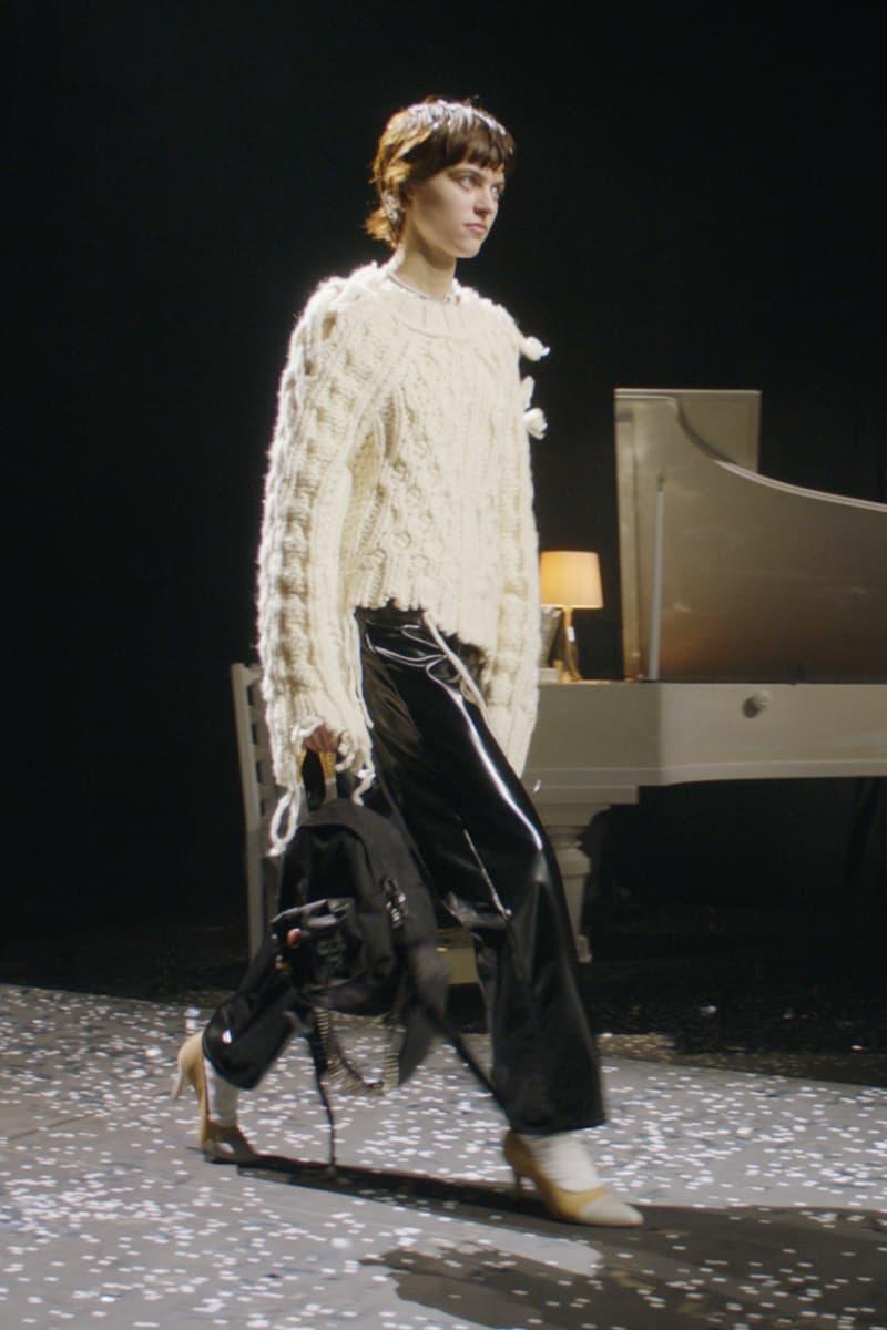 mm6 maison margiela fall winter collection paris fashion week pfw long sleeve top pants bag