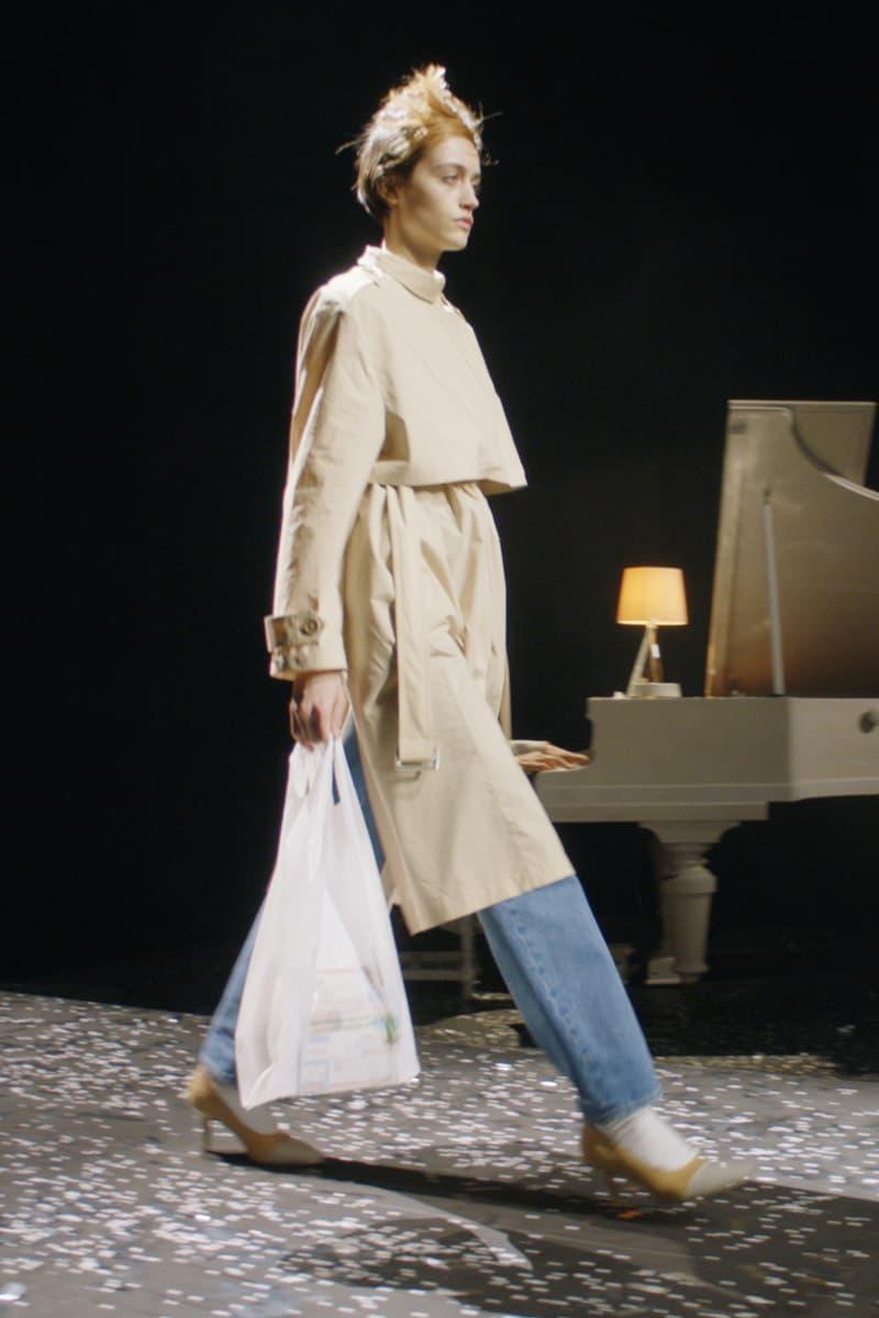 mm6 maison margiela fall winter collection paris fashion week pfw outerwear jacket denim jeans bag
