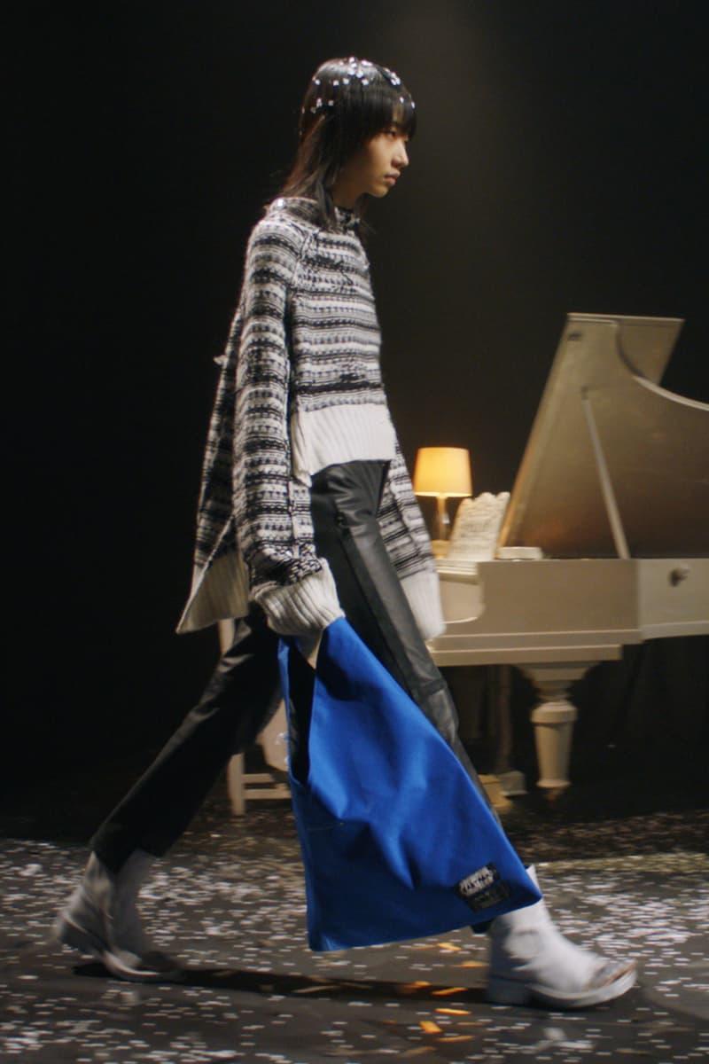 mm6 maison margiela fall winter collection paris fashion week pfw knitwear sweater eastpak bag pants