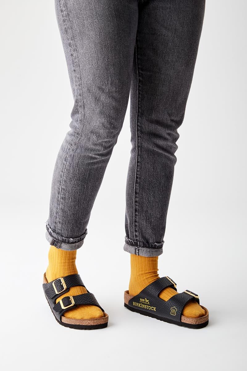 mschf birkenstock arizona sandals destroyed hermes birkin bags repurposed sustainable black orange socks pants