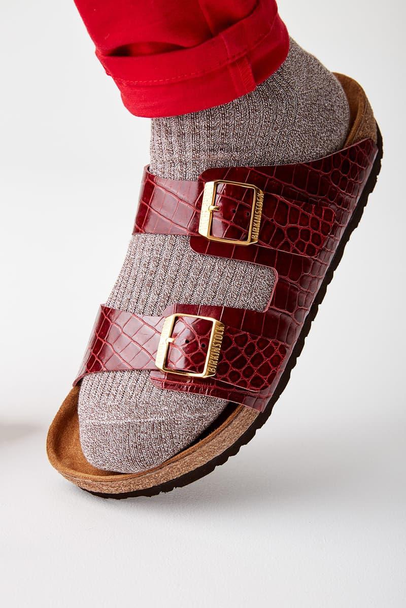 mschf birkenstock arizona sandals destroyed hermes birkin bags repurposed sustainable maroon socks red pants