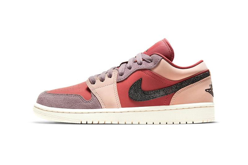nike air jordan 1 low womens sneakers canyon rust purple smoke pink beige black colorway footwear kicks shoes sneakerhead lateral