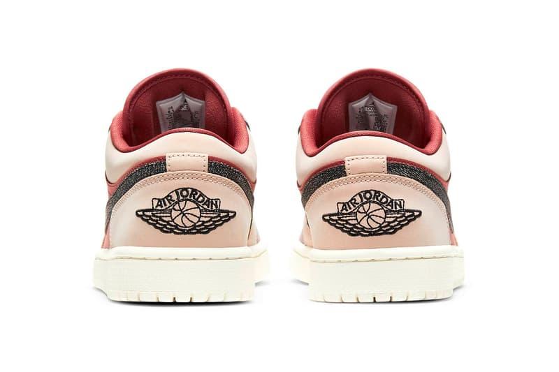 nike air jordan 1 low womens sneakers canyon rust purple smoke pink beige black colorway footwear kicks shoes sneakerhead heel
